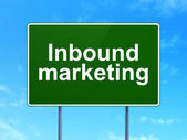Finance concept: Inbound Marketing on road sign background — Stock Photo