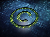 Law concept: Copyright on digital screen background — Stock Photo