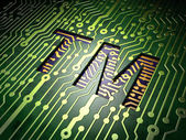 Law concept: Trademark on circuit board background — Stock Photo