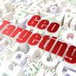 Stock Photo: Finance concept: Geo Targeting on alphabet background