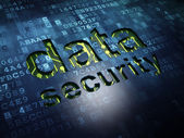 Protection concept: Data Security on digital screen background — Stock Photo