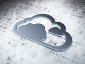 Cloud technology concept: Silver Cloud on digital background — Foto Stock
