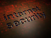 Safety concept: Internet Security on digital screen background — Stock Photo