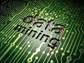 Information concept: Data Mining on circuit board background — Foto Stock