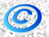 Law concept: Copyright on alphabet background — Stock Photo