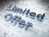Business concept: Silver Limited Offer on digital background — Stockfoto