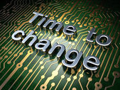 Time concept: Time to Change on circuit board background — Stock Photo