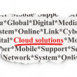 Stock Photo: Cloud technology concept: Cloud Solutions on Paper background