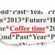Stock Photo: Time concept: Coffee Time on Paper background