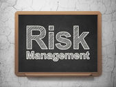 Finance concept: Risk Management on chalkboard background — Stock Photo