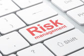 Business concept: Risk Management on computer keyboard background — Stock Photo