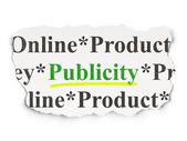 Marketing concept: Publicity on Paper background — Stock Photo
