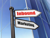 Finance concept: sign Inbound Marketing on Building background — Stock Photo