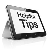 Education concept: Helpful Tips on tablet pc computer — Stock Photo