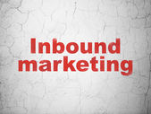 Business concept: Inbound Marketing on wall background — Stock Photo