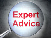 Law concept: Expert Advice with optical glass — Stock Photo