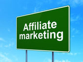Business concept: Affiliate Marketing on road sign background — Stock Photo