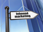 Business concept: sign Inbound Marketing on Building background — Stock Photo