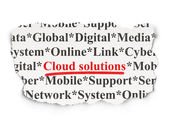 Cloud technology concept: Cloud Solutions on Paper background — Stock Photo