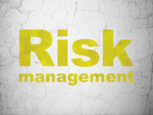 Finance concept: Risk Management on wall background — Stock Photo