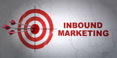 Business concept: target and Inbound Marketing on wall background — Stock Photo
