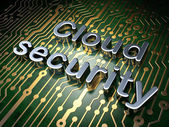 Cloud computing concept: Cloud Security on circuit board background — Stock Photo