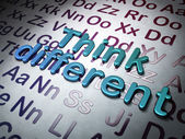 Education concept:  Think Different on Alphabet background — Stockfoto