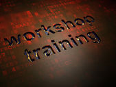 Education concept: Workshop Training on digital screen background — Stock Photo