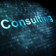Business concept: Consulting on digital background — Stock Photo
