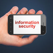 Safety concept: Information Security on smartphone — Stock Photo
