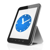 Time concept: Clock on tablet pc computer — Stock Photo