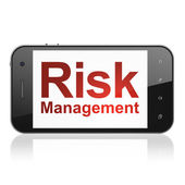 Business concept: Risk Management on smartphone — Stock Photo