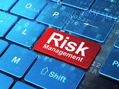 Finance concept: Risk Management on computer keyboard background — Stock Photo