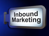 Business concept: Inbound Marketing on billboard background — Stock Photo