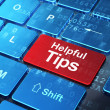 Education concept: Helpful Tips on computer keyboard background — Stock Photo #42891301