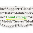 Cloud networking concept: Cloud Storage on Paper background — Stock Photo #42892301