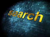 SEO web development concept: Search on digital background — 图库照片