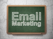 Business concept: Email Marketing on chalkboard background — Foto de Stock