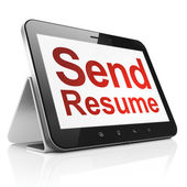Business concept: Send Resume on tablet pc computer — Stock Photo