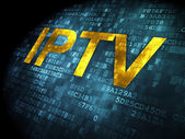 SEO web development concept: IPTV on digital background — Foto Stock