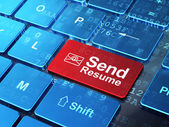 Finance concept: Email and Send Resume on computer keyboard background — Foto de Stock