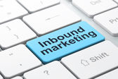 Business concept: Inbound Marketing on computer keyboard background — Stock Photo