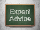 Law concept: Expert Advice on chalkboard background — Stock Photo