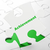 Education concept: Achievement on puzzle background — Stockfoto