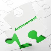 Education concept: Achievement on puzzle background — Стоковое фото