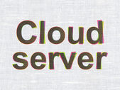 Cloud technology concept: Cloud Server on fabric texture background — Stock Photo