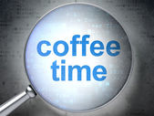 Time concept: Coffee Time with optical glass — Stok fotoğraf