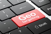 Business concept: Geo Targeting on computer keyboard background — 图库照片