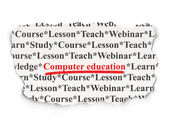 Education concept: Computer Education on Paper background — Foto Stock
