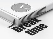 Timeline concept: book Clock, Break Time on white background — Stock Photo